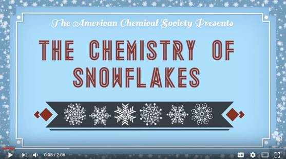 Chemistry of Snowflakes Video Link